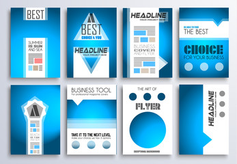 Set of Brochure, Flyers and layout templates for you projects
