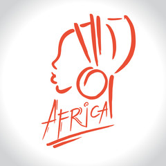 Africa  logo with a female silhouette