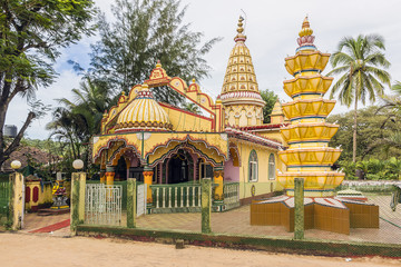 Beautiful hindu temple in Goa, India.