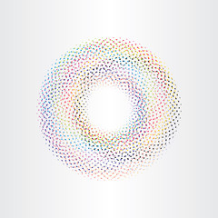colorful background circle with squares rainbow vector