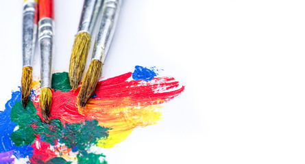 paintbrush and watercolor