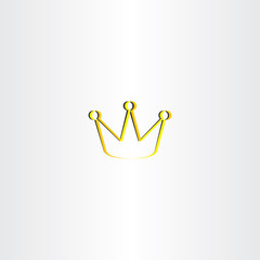 golden king crown vector logo
