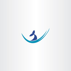 whale tail water wave logo
