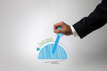 Erfolg im Geschäftsleben/ Hebel umlegen