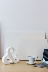 White decoration on table