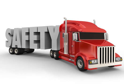 Safety Truck Trailer 3d Word Driving Training Semi Big Rig