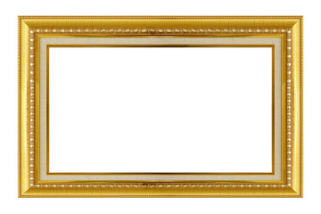 Gold frame. Gold/gilded arts and crafts pattern picture frame. I
