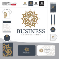 Abstract monogram elegant logo design,Abstract Logotype corporate identity template,Corporate identity,hotel,restaurant,vector illustrator