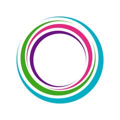 Abstract Vibrant Circle Lens Hole