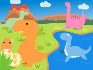 Foto auf Leinwand Dinosaurier Dinosaur
