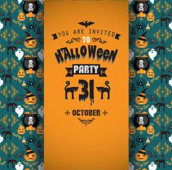 Invitation to Halloween party.