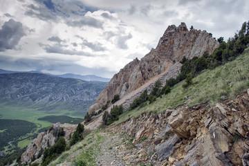 mountains of southern Kyrgyzstan
