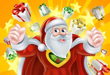 Christmas Superhero Santa Claus