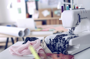 Designer work place sewing machine in office