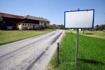 Empty white sign
