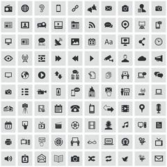 media 100 icons universal set