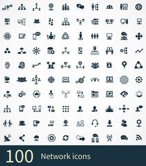 network 100 icons universal set