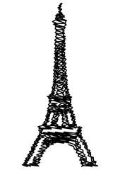 Tour Eiffel griffonnée
