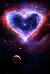Buntes Supernova Herz