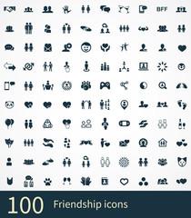 friendship 100 icons universal set