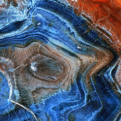 Mineral,colored agate with nacre