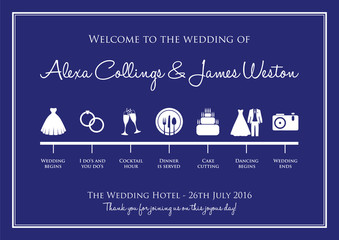 wedding timeline background