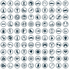 lifestyle 100 icons universal set