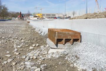Neubau einer Strasse im Industriegebiet