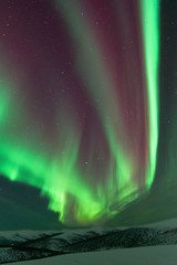 Aurora Borealis reds and greens
