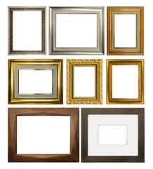 Vintage rectangular frames on white background