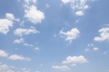 clear, blue sky and white cloud