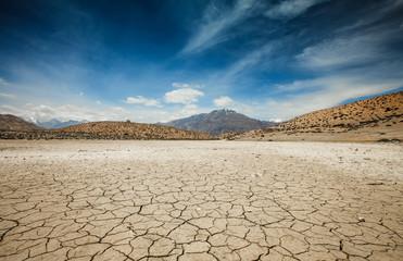 Dry Dhankar lake