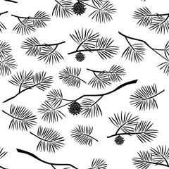 Pine Branch, Seamless Background