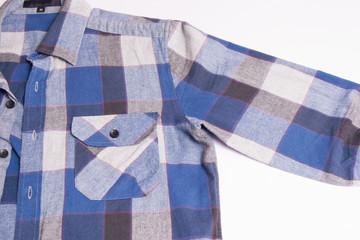 Men's check shirt fashion