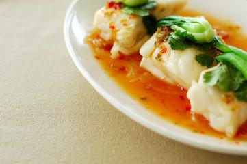 Thai cuisine - hot and sour lemon fish