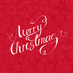 Calligraphic  Merry Christmas lettering