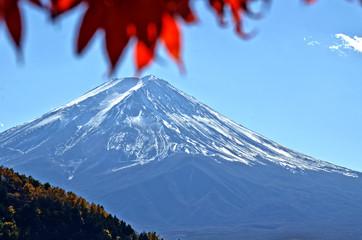 Fuji Mountain and Maple leaf.