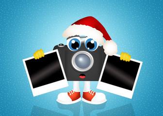 camera cartoon at Christmas