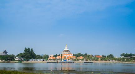 public temple Wat Thewa Sangkharam, Kanchanaburi Thailand