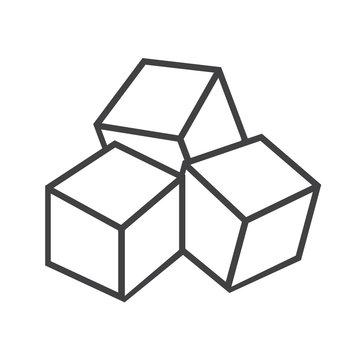 Sugar cubes icon