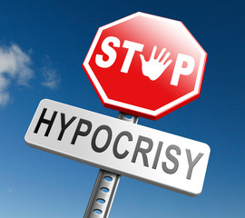 stop hypocrisy