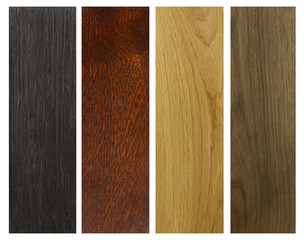 four colours of wood
