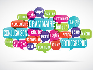 nuage de mots : apprendre le français