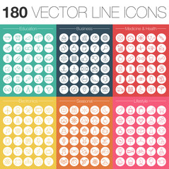 VeKtor Linien Icons Set