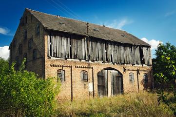 Old rural barn in sunny day