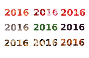 Happy new year 2016 different type of text