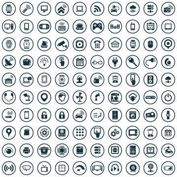 internet of things 100 icons universal set