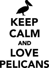 Keep calm and love pelicans