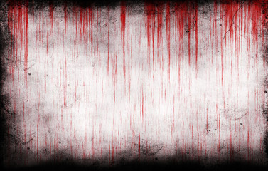 bloody grungy wall Wall mural