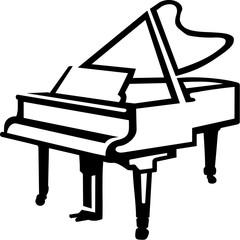 Grand Piano sketch style